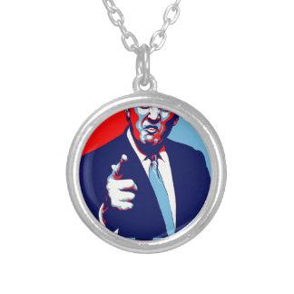 """Colar Banhado A Prata Poster 2017 da paródia do """"medo"""" de Donald Trump"""