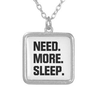 Colar Banhado A Prata Precise mais sono