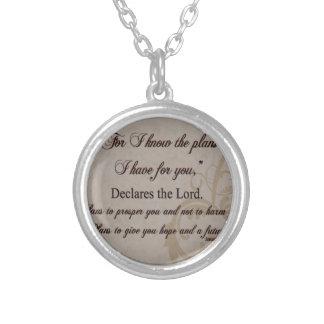 Colar Banhado A Prata Presente da escritura do 29:11 de Jeremiah