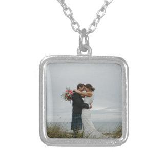 Colar Banhado A Prata Presentes de casamento