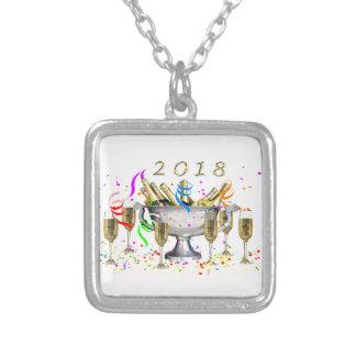 Colar Banhado A Prata Presentes do ano novo