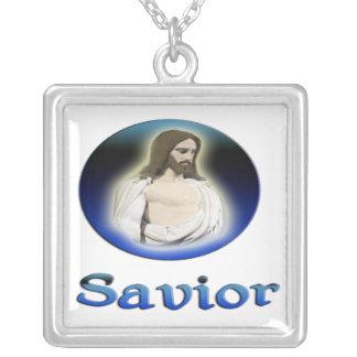 Colar Banhado A Prata Presentes transversais de Jesus