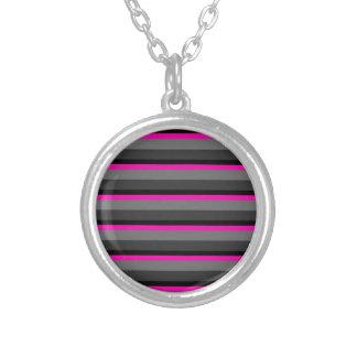 Colar Banhado A Prata preto cor-de-rosa de néon brilhante na moda e