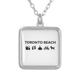Colar Banhado A Prata Preto monótonos dos ícones da praia de Toronto