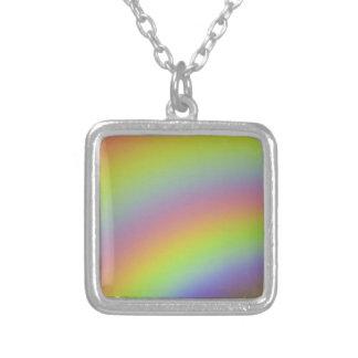 Colar Banhado A Prata Produto do arco-íris