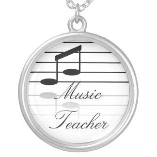 Colar Banhado A Prata Professor de música