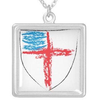 Colar Banhado A Prata Protetor episcopal