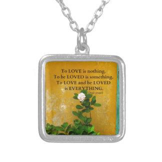 Colar Banhado A Prata provérbio do grego das citações do amor do