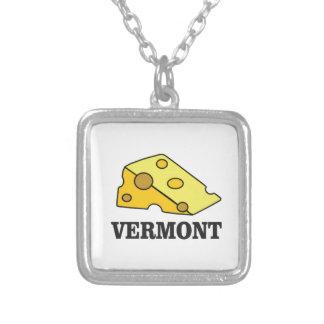 Colar Banhado A Prata Queijo Cheddar de Vermont