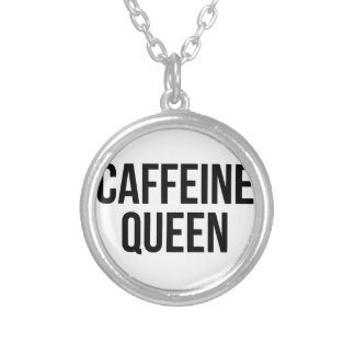 Colar Banhado A Prata Rainha da cafeína