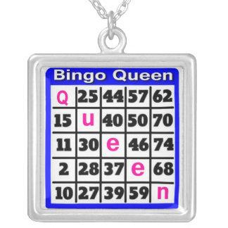Colar Banhado A Prata Rainha do Bingo