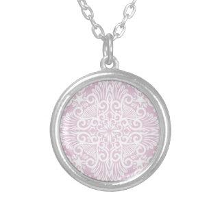 Colar Banhado A Prata Raiz ideal rosa pálido