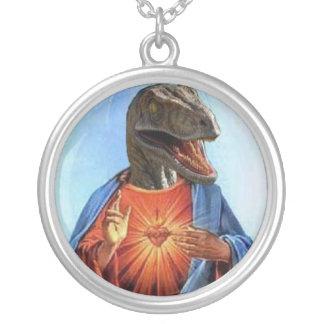 Colar Banhado A Prata Raptor Jesus