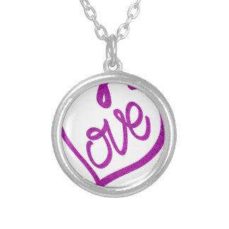 Colar Banhado A Prata refrigere o design bonito do amor