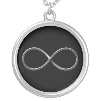 Colar Banhado A Prata Regras da ciência do símbolo | da infinidade