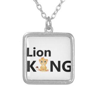 Colar Banhado A Prata rei do leão
