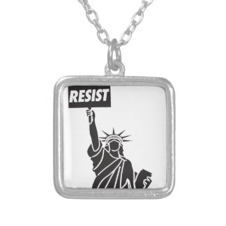 Colar Banhado A Prata Resist_for_Liberty