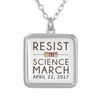 Colar Banhado A Prata Resista a ciência março