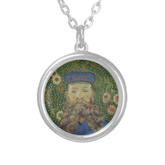 Colar Banhado A Prata Retrato de Van Gogh | do carteiro Joseph Roulin II