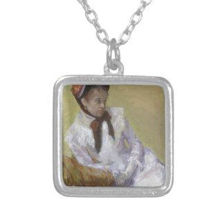 Colar Banhado A Prata Retrato do artista - Mary Cassatt
