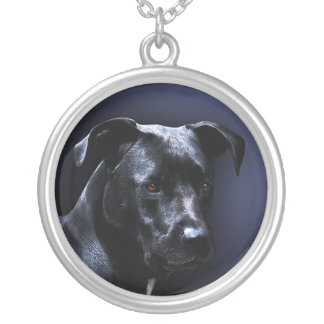 Colar Banhado A Prata Retrato italiano do cão de Corso do bastão