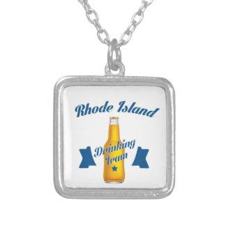 Colar Banhado A Prata Rhode - equipe do bebendo da ilha