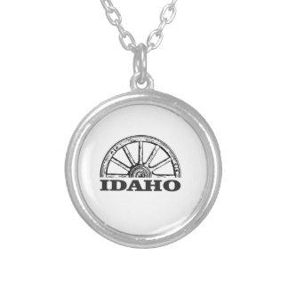 Colar Banhado A Prata Roda de vagão de Idaho