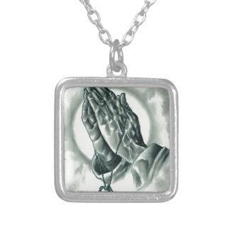 Colar Banhado A Prata Salmo 91
