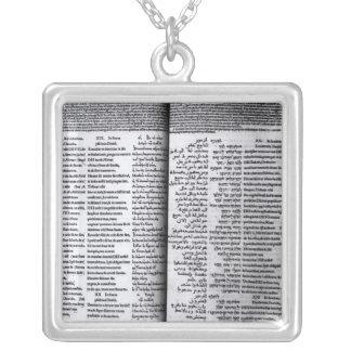 Colar Banhado A Prata Salmo de David: Psalterim Octaplums, 1516