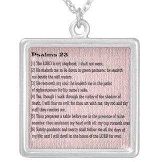 Colar Banhado A Prata Salmos 23