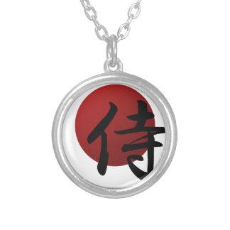 Colar Banhado A Prata Samurai Sun