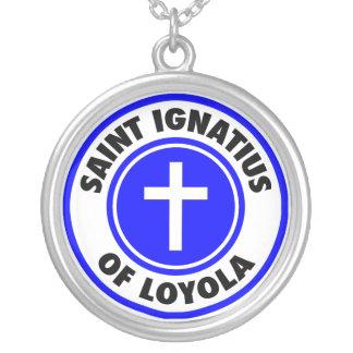 Colar Banhado A Prata Santo Ignatius de Loyola