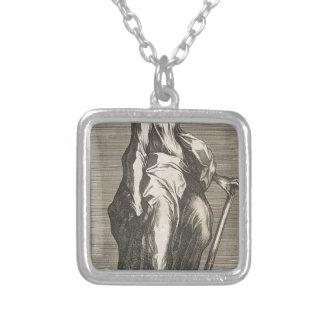 Colar Banhado A Prata Santo Jude (ou santo Matthias)