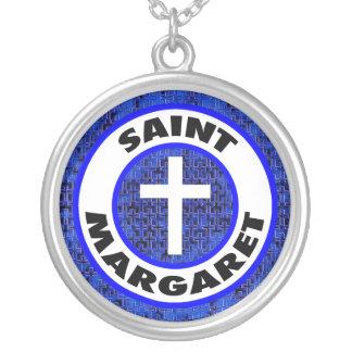 Colar Banhado A Prata Santo Margaret