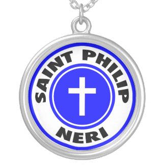 Colar Banhado A Prata Santo Philip Neri