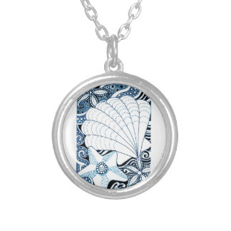 Colar Banhado A Prata Seashells