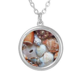 Colar Banhado A Prata Seashells pelo litoral