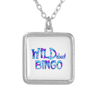Colar Banhado A Prata Selvagem sobre o Bingo