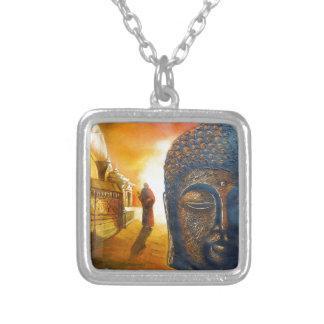 Colar Banhado A Prata Senhor Gautama Buddha