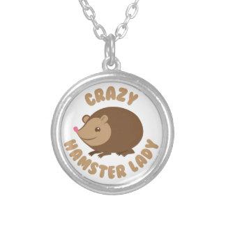 Colar Banhado A Prata senhora louca do hamster