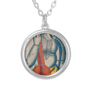 Colar Banhado A Prata Shiva intoxicado que guardara o cordeiro