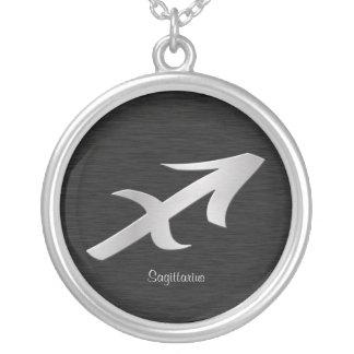 Colar Banhado A Prata Símbolo de prata do zodíaco de Saggitarius