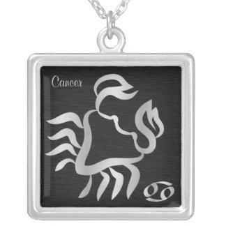 Colar Banhado A Prata Símbolo de prata do zodíaco do cancer