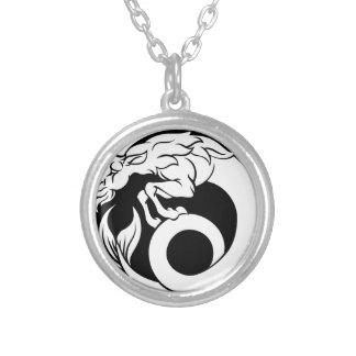 Colar Banhado A Prata Sinal do zodíaco do horóscopo do Capricórnio
