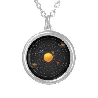 Colar Banhado A Prata Sistema solar
