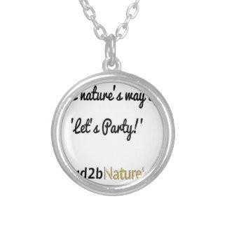 Colar Banhado A Prata Slogan 1 dos soldados da natureza