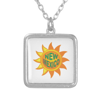 Colar Banhado A Prata Sol de New mexico