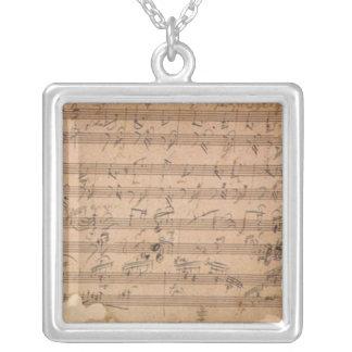 Colar Banhado A Prata Sonata de Beethoven Hammerklavier