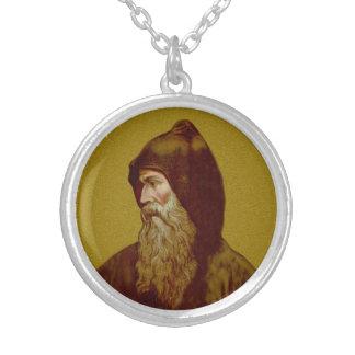 Colar Banhado A Prata St. Cyril a monge (M 002)