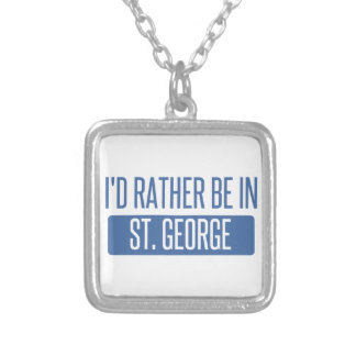Colar Banhado A Prata St George
